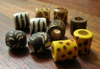 hand-painted wood beads