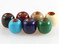 colored wood beads