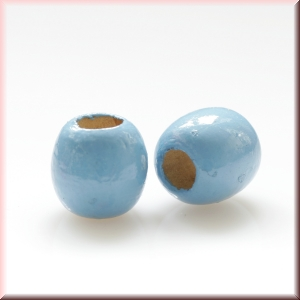 wood beads: light blue