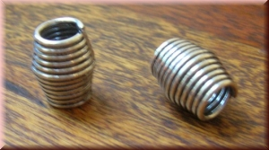 Small metal bead (hand-crafted) - ANHMB-222