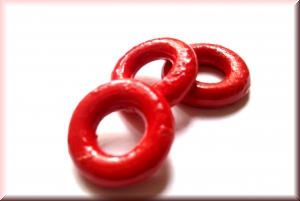 wooden rings red: WRP-001