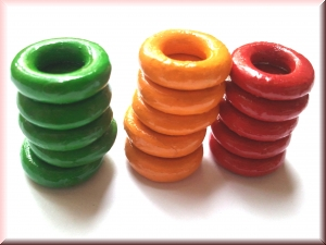 wood rings mix WRP-Set15  (15 rings)