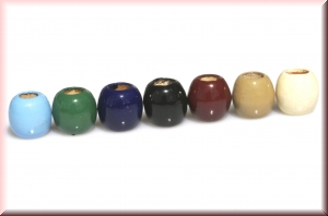 wood beads mix MAXI35: various colors